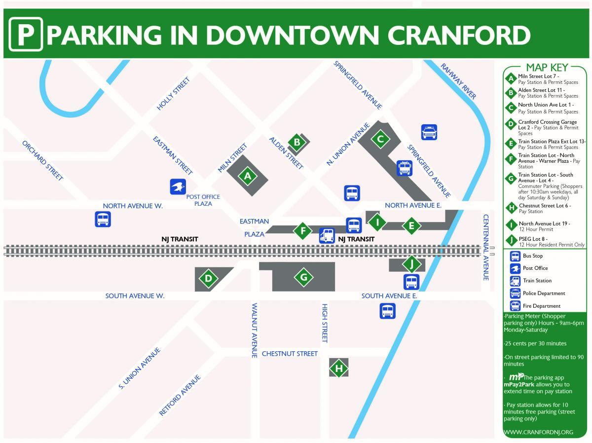 New Jersey parking token Downtown Cranford NJ3215C